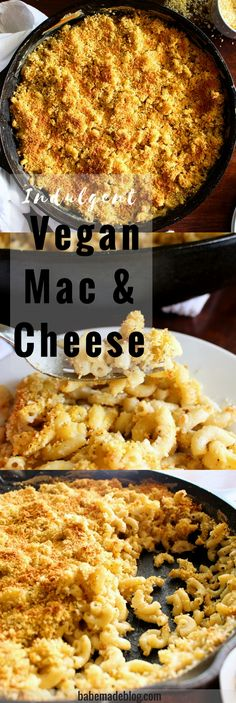 Delicious vegan mac and cheese recipe that will make the perfect dinner meal. #vegan
