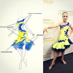 От эскиза до готового платья #пошивкостюмов #бальноеплатье #латина #юниоры1 #ballroomdress #latindress #winner
