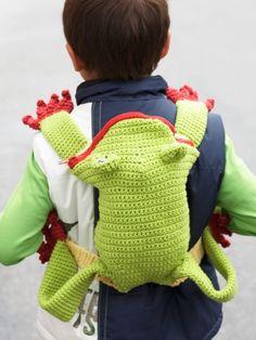 Frog Backpack | Yarn | Free Knitting Patterns | Crochet Patterns | Yarnspirations