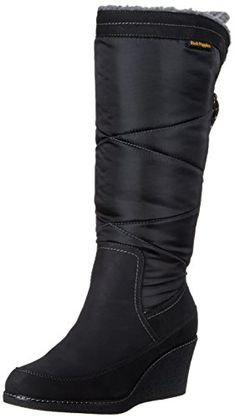Hush Puppies Womens Hilde Hyde Snow Boot Black 10 M US ** Learn more by visiting the image link.