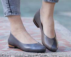 Rosa zapatos Ballerina de cuero cuero planos zapatos por BangiShop