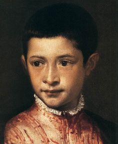 Titian (Tiziano Vecellio) ~ Portrait of Ranuccio Farnese (detail), 1542