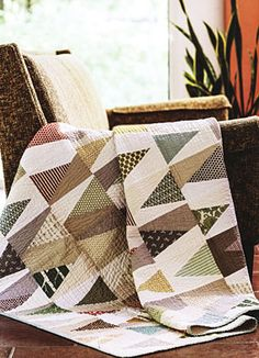 Additional Images of Scrappy Fat Quarter Quilts by various authors - ConnectingThreads.com
