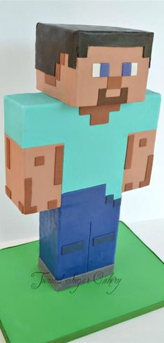 Steve From Minecraft CAKE #coupon code nicesup123 gets 25% off at  Provestra.com Skinception.com