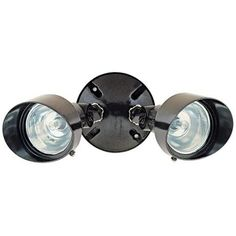 "Bronze Finish 12 1/4"" Wide Twin Halogen Spot Security Light -"
