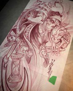 Fotos de Only sketches tattoo / Tattoo / Sketch tattoo Tattoo Studio, Tattoo Blog, Skull Sleeve Tattoos, Body Art Tattoos, Skull Tattoo Design, Tattoo Designs, Tattoo Sketches, Tattoo Drawings, Tattoo Fairy