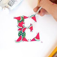 Fruity lettering by @theletterbuglondon - #typegang - typegang.com | typegang.com #typegang #typography