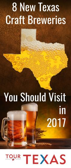 "If you're one of the many Texans (or Texas travelers) enamored by the craft beer craze, then you may already know that the Lone Star State has dozens of independent brewers. Here are a few very promising new ones to add to your list of ""must try"" brews. https://www.tourtexas.com/articles/62/8-new-texas-craft-breweries-you-should-visit-in-2017"