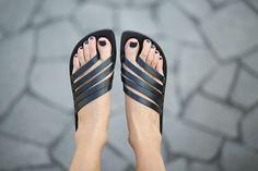 40% Sale Greek Sandals Black Leather Sandals Handmade di abramey