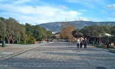 """Dionysiou Areopagitou pedestrian street. A """"Big Walkway"""" under the shadow of the Acropolis http://www.house2book.com"""