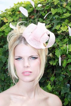 Pink fascinator hat headpiece for weddings by Fascinatorshats b67be371470
