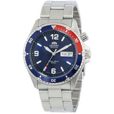 Orent Dive Watch with Red and Blue Bezel  http://www.divewatchesonline.com/orient-blue-and-red-bezel-dive-watch