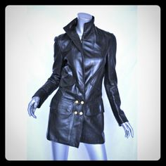 Make me a offer Chanel leather jacket Used but in Good condition chanel boutique 3/4 sleeves jacket / coat  black color, no size tags but like XL, this same jacket is listed in ebay for $4500 in used condition., price for trade is $ 900 CHANEL Jackets & Coats