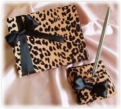 Wedding Guest Book Leopard Print Wedding Accessories by All4Brides, $55.00