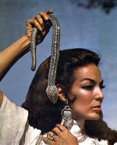 Maria Felix and CARTIER snake ....Uploaded By www.1stand2ndtimearound.etsy.com