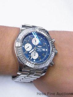 Genuine pre-owned Breitling A13370 Massive Chronograph Chronometer Super Avenger Watch #Breitling #Sport