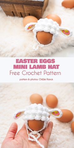 easter crochet patterns O, sure, you can paint Easter eggs like everyone else. But what about this ultra-cute lamb wooly hat? It'll set your eggs apart, it's easy to make and is Easter Egg Pattern, Easter Crochet Patterns, Amigurumi Patterns, Easter Projects, Easter Crafts, Bunny Crafts, Easter Decor, Easter Ideas, Easter Lamb
