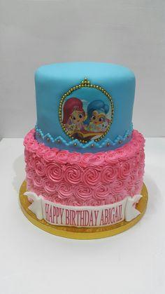 Shine and Shimmer Cake Chocolate cake Vanilla cake