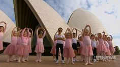 Ballerinas launch The Australian Ballet's production of The Sleeping Beauty, a performance specifically for children