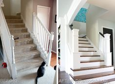 Stairs Makeover ~ before & after
