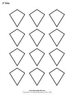 Free Kite Templates, various sizes | ABC | Pinterest | Kite template ...