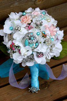 Vintage brooch bridal broach bouquet by Rusticcreek on Etsy, $75.00