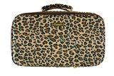 """PurseN Amour Travel Case in Leopard and Brown Satin by PurseN. $88.00. Size: 7""""H x 11""""L x 5""""D. Perfect for total organization while traveling. Clear protective cover inside to help prevent damage from spillage. Elastic band inside to hold bottles/products in place. Includes 7 removable pouches, 2 sides enclosed by clear zipper panels. The Amour Travel Case from PurseN has several fashionable styles with a satin easy care exterior (damp wipe to clean). Great for ..."""