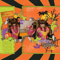 Meagan's Creations has a fun kit Retro Halloween is a cute but funky kit for your great pictures! Kid-friendly but also great for adults! Kit includes: - 3 full alphas in black, purple and orange. 10 patterned & 6 solids, 48 unique elements including: cat, bat, ghost, haunted house, moon, buttons, candy, treat bag, cross-bones, skull, witch hat, witch boot, broom, pumpkin, spider and more! All themed elements were custom made for this kit so you know you're getting a truly original piece of…