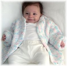 Baby Cardigan Knitting Loom ~*~ Free Pattern
