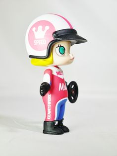 Hong Kong POP MART Kennyswork BLOCK Little Molly Career Series Racer Red & Blue – Capsule Culture