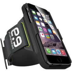 PureGear Armband for iPhone 6 It's the ultimate workout accessory. Offering more functionality, convenience, versatility and protection than any other case on the market with the 4-in-1 System. Clip It. Carry It. Prop It. Protect It.      Antibacterial and odor-free armband with Dry+Flex technology     Removable case with built-in kickstand for media viewing     Lightweight holster with flexible fit wings for maximum comfort     Convenient 2-slot ID / credit card holder / key holder     ...