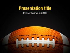 This FREE Keynote template will be a great choice for presentations on football, American football, NFL, championships, football history, team sports, sport schools, sport events, challenge, etc.