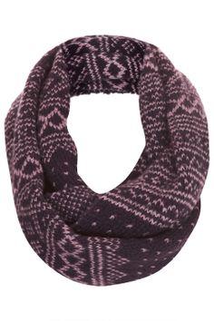 Scandi Fairisle Snood - Scarves - Bags & Accessories - Topshop