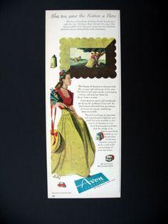 Avon Cosmetics Abraham Lincoln's Mother 1944 print Ad