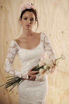 36 Of The Most Effortlessly Beautiful Boho Wedding Dresses Ever: Grace Loves Lace