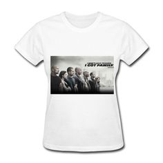 QDYJM Women's Fast Furious 7 Family T-shirt - L White