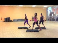 Cardio Step: Make it HOT Intermediate Step with Karla Luster - YouTube