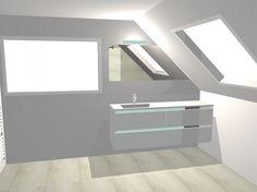 badkamer met maatwerk lavabomeubel - Dagmar Buysse