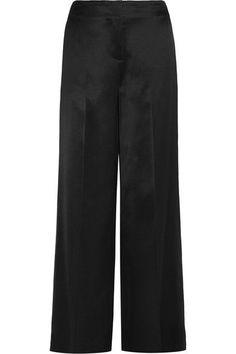 Diane von Furstenberg - Satin Wide-leg Pants - Black - US12