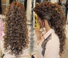 24 Trendy Ideas bridal hairstyles for long hair tutorial updo Curls For Long Hair, Curly Hair With Bangs, Short Wavy Hair, Thin Hair, Curly Hair Styles, Permed Hairstyles, Bridal Hairstyles, Female Hairstyles, Wedding Hairstyles For Curly Hair