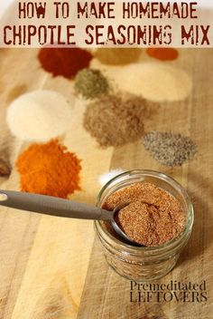 Use these directions for How to make Chipotle seasoning mix to make your own Chipotle spice mix from scratch. This homemade chipotle seasoning mix recipe uses ground chipotle peppers and spices from your pantry. You can use this DIY chipotle seasoning to add flavor a smoky heat to your favorite southwest dishes.
