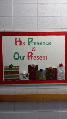 Church Christmas bulletin board