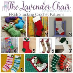 FREE Stocking Crochet Patterns - The Lavender Chair