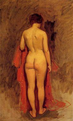 Nude Standing by Frank Duveneck  - 1892