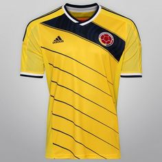Netshoes -  Camisa Adidas Seleção Colômbia Home 2014 s/nº