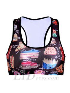 e69d7613c7 I-Shaped Vests - Cartoon Rims Sports Bra Yoga Vest Top Word Ssb-0077.  Workout BraWorkout VestBrassiere BraBlack Crop ...