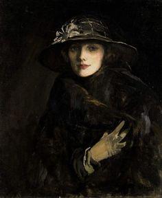 John Lavery | Portrait of Lady Gwendolyne Churchill, 1915