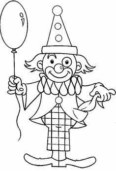 un ballon dans la main de clown  #clowncirque Clown Crafts, Circus Crafts, Mouse Crafts, Circus Decorations, Carnival Themes, Circus Theme, Colouring Pages, Printable Coloring Pages, Coloring Books