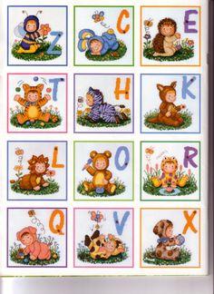 Baby Costume ABC Cross Stitch Alphabet, Baby Costumes, Alphabet, Punto De Cruz, Dots, Needlepoint, Journals, Cross Stitch, Kid Costumes