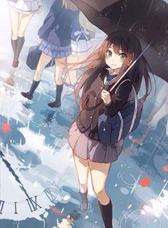 Anime girl illustration